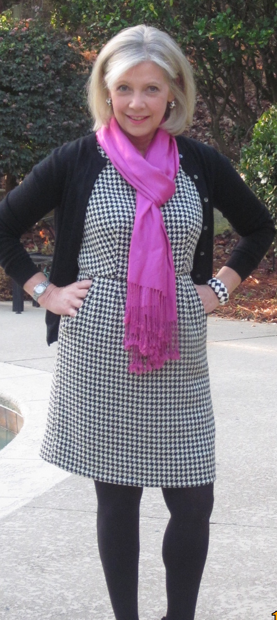 wool houndstooth dress