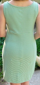 SEAFOAM COTTON KNIT DRESS