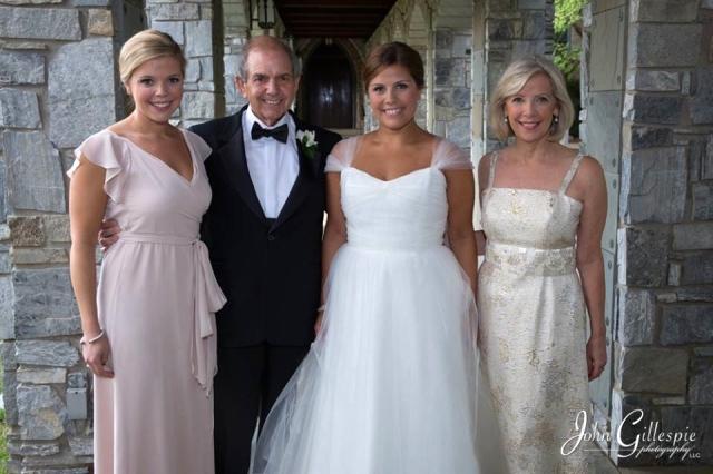 family photo before wedding
